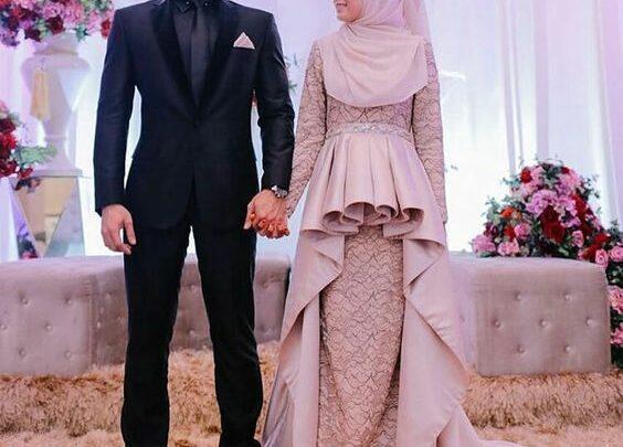Baju Pesta Couple Mewah untuk Muslim