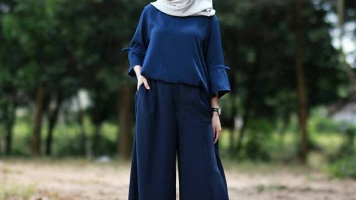 Baju Muslim Kombinasi Celana Panjang Kulot Untuk Remaja